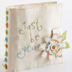 Go beyond paper scrapbooking with an easy-to-make canvas album that is perfect to give as a gift or keep for yourself.