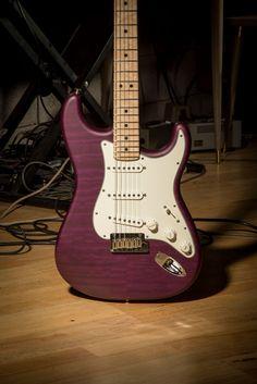 Fender Stratocaster Custom Shop Custom Deluxe Strat AAA Quilt Top Purple Transparent - Google Search