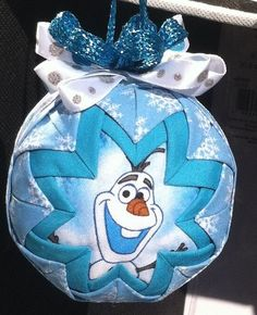 UNIQUE Handmade no sew quilted Disney frozen fabric Olaf Ornament in Handmade Items | eBay