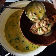 Marcella Hazan's White Bean Soup with Garlic and Parsley