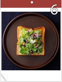 「毎日トースト!」では、リピートしたくなるトーストアイデアを毎日ご紹介。旬の食材や記念日をからめて、トーストをごちそうに格上げ! 「サラダ記念日」の本日のトーストはこちら。