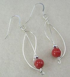 Square Wire Earrings with tips from The Beading Gem's Journal ~ Wire Jewelry Tutorials
