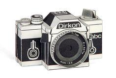 Dirkon la cámara estenopeica de papel de Checoslovaquia