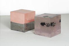 levelsandlevelsreexaminedfrom theprocess of makingseries steel, tool dip, resin, rock, aluminum, polish Samuel R...