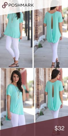 Teal open back tunic Teal open back tunic.  Very comfy. Looks great with jeans or shorts. Infinity Raine Tops Tunics