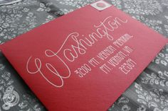 Wedding Calligraphy Envelope Addressing by 5thFloorDesigns on Etsy, $1.50