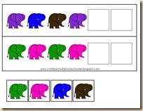 Elephant Pattern Activity: Simply cut out the elephant pieces and use to complete the pattern!