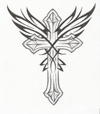 Cross Tattoos with Wings