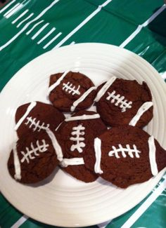 Tailgate Food (from a cake mix)/ these little footballs use left over minky material to make cute bean bags