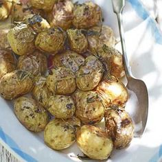 Herb Roasted New Potatoes - Shock Your Palate:  new potatoes, olive oil, rosemary, sea salt