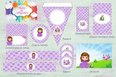 Kits imprimibles diseños variados Frame, Art, Lollipops, Water Bottles, Princess, Drawings, Custom Chocolate, Picture Frame, Art Background