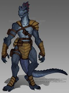"riyamilea: ""A colored rough of my Lizardfolk Fighter/Barbarian, Zeith! She's a special kind of goof with scales just about as good as armor. Thanks for looking! """