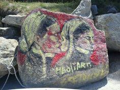 Art de rue a la plage de Perros Guirec