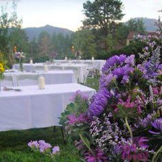 Park wedding - love the flowers