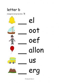 Grade R Worksheets, Free Printable Alphabet Worksheets, Preschool Worksheets, Letter School, Learn Dutch, School Posters, Learn A New Language, Kids Learning Activities, Letter B