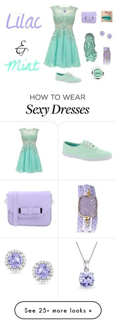 """""""Lilac and Mint"""" by oelhead on Polyvore featuring Keds, Pieces, Ice, Bling Jewelry, Alexandra Beth Designs, NYX, colorchallenge and lilacandmint"""