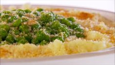 Thanksgiving Sides!! Baked Mashed Potatoes with Peas, Parmesan Cheese and Breadcrumbs