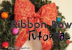 Image result for diy christmas bow with ribbons