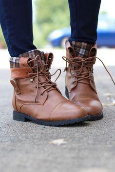 Lagos Combat Boots {Tan}
