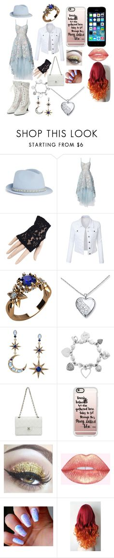 """""""outfit 1"""" by ally-cat-369 ❤ liked on Polyvore featuring Valentino, Notte by Marchesa, Seychelles, Black, LE3NO, Betsey Johnson, ChloBo, Chanel, FingerPrint Jewellry and Casetify"""