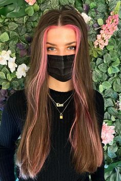 💸MONEY PIECE💸 @colorgeek_ created this look using Frosé and Virgin Pink #AFfrosé #AFvirginpink Hair Color Pink, Pink Hair, Split Dyed Hair, Semi Permanent Hair Dye, Arctic Fox Hair Color, How To Lighten Hair, Bright Hair, Long Layered Hair, Light Brown Hair
