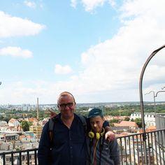 Auf der Brücke zwischen den Kirchtürmen #halle Marktkirche #church #hallesaale zusammen mit @zo_ron #onkelundneffe