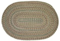 Duet Braided Rugs - Moss 2x3 Oval Braided Rug by Rhody Rugs. $34.99. Available in matching Chair Pads and Stair Treads!. Guaranteed to lie flat!. 2x3 Oval Braided Rug. 75% Wool 25% Polypropylene. Quality Crafted in New England. Duet Braided Rug Collection are one of the finest and most luxurious collections of braided rugs available. These rugs are crafted from 75% wool and 25% polypropylene, giving you the softness of wool underfoot with the added durability of polypropylene! Th...