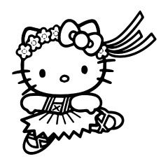 Printable Hello Kitty Coloring Pages For Kids. When we first heard Hello Kitty, the first one that occurred in our minds was a cute cat character that was very Ballerina Coloring Pages, Dance Coloring Pages, Mermaid Coloring Pages, Cat Coloring Page, Coloring Pages For Girls, Cartoon Coloring Pages, Coloring Books, Free Coloring, Coloring Sheets