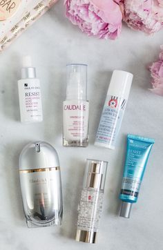 The best new skincare products for women in their 20s - including the best serums + a review of Caudalie Vinosource S.O.S. Thirst Quenching Serum, Paula's Choice Resist Hyaluronic Acid Booster, First Aid Beauty Ultra Repair Hydrating Serum, Elizabeth Arden Superstart Skin Renewal Booster, Elizabeth Arden Flawless Future Caplet Serum, and Paula's Choice Resist Ultra-Light Super Antioxidant Concentrate Serum by beauty blogger Ashley Brooke Nicholas