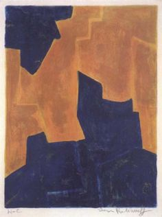 Composition bleue et orange by Serge Poliakoff