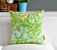 Wholesale!Free shipping 1 PCS  Garden fresh  green grass leaves birds sided printing Pillowcase cushion cover 45CMx45CM