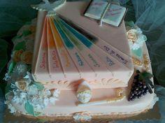 confirmation cake torta per la cresima Communion Cakes, First Communion, Unique Cakes, Creative Cakes, Sheet Cake Designs, Confirmation Cakes, Gorgeous Cakes, Cake Tutorial, Celebration Cakes