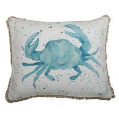 Carmello Crab Throw Pillow