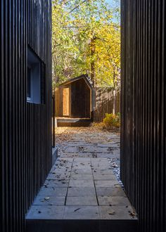 Blurring Boxes residential extension in Brooklyn, New York City, USA by Architensions. Photograph by Cameron Blaylock Charred Wood, New York Studio, Wood Cladding, House Extensions, House In The Woods, Black Wood, Design Elements, Townhouse, New York City