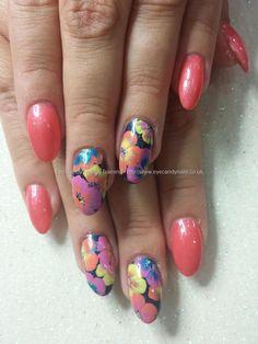 Goody goody gumdrops gel polish with one stroke flower nail art