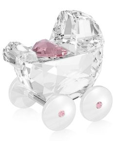 Swarovski Collectible Figurine, Baby Carriage.