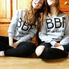2016 Women Hoodies Brunette Best Friends BFF Blonde Best Friend Print Harajuku Girlfriends Sweatshirt Women Pullovers hoody