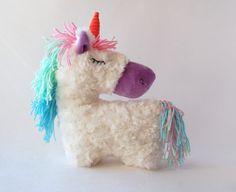 Stuffed unicorn toy Horse Stuffed Stuffed Animal rainbow by RomeoShop