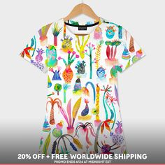 Discover «Lush garden», Numbered Edition Women's All Over T-Shirt by Ninola - From 37€ - Curioos