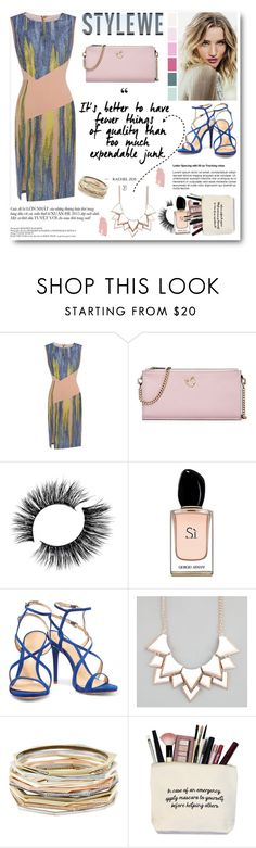 """""""Stylewe 5"""" by cindy88 ❤ liked on Polyvore featuring Whiteley, Armani Beauty, Schutz, Full Tilt, Kendra Scott and Jane Iredale"""