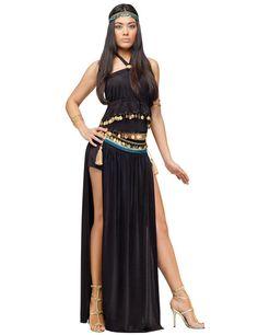 Cleopatra Ägypterin Damen Kostüm schwarz-gold