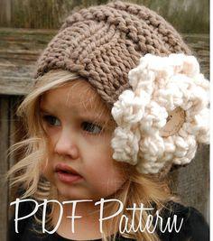 Knitting PATTERN-The Sophia Slouchy Toddler by Thevelvetacorn