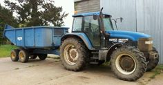 New Holland tractor and trailer, Norfolk England (photo by Claire Scarrott)