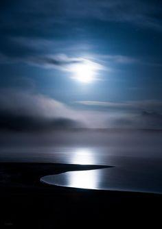 """sea-passion: """" Moonlit wandering by Derek Kind., Wyoming . """""""