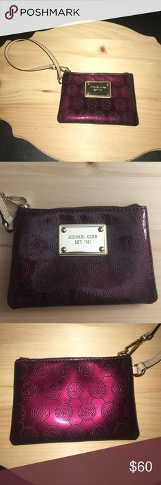 Michael Kors Burgundy Wristlet So cute, but I never think of using it! In great condition, basically brand new! 6x4 inches! Michael Kors Bags Clutches & Wristlets