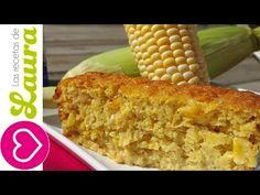 Pan de Elote Delicioso Fácil y LIGHT! Las recetas de Laura - YouTube cocina