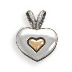 Heart of Gold Heart Pendant