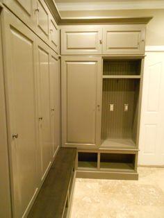 Mudroom Lockers Closed Doors Cubbies Cabinets Laundry Room