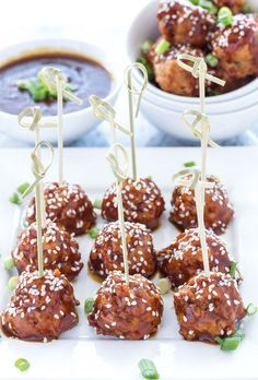 Healthy, moist, turkey meatballs are coated in a delicious homemade teriyaki sauce in this easy slow cooker appetizer!