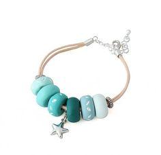 Turquoise Blue Chunky Bead Bracelet for Women, han…